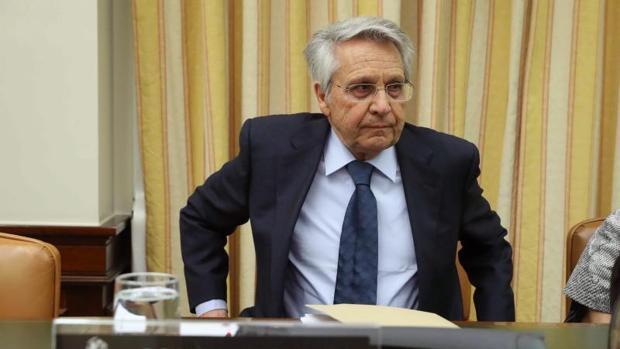 Julio Fernández Gayoso esta mañana en el Congreso de los Diputados