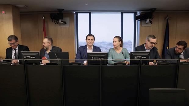 Reunión del grupo parlamentario de Ciudadanos