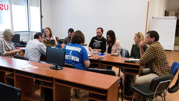 Reunión del comité de huelga en Orense