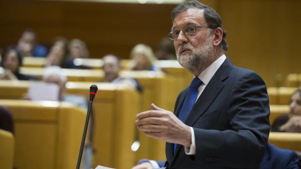 Rajoy, en el Senado en una imagen de archivo
