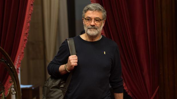 El jefe de filas de la CUP en el Parlament, Carles Riera