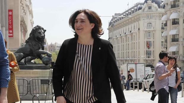 La alcaldesa de Barcelona, Ada Colau, este miércoles en el Congreso de los Diputados