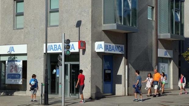 Una oficina de Abanca en Santiago de Compostela