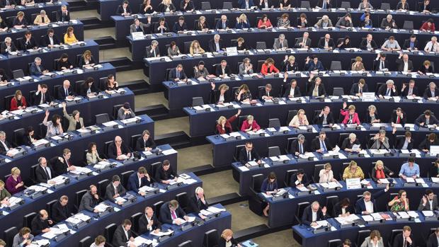 Miembros del Parlamento Europeo en Estrasburgo