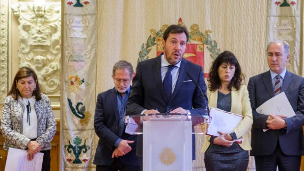 El alcalde de Valladolid con parte de su equipo en una imagen de archivo
