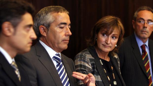Pedro Ariche (a la derecha) y Francisco Bañeres (centro), en una foto de archivo