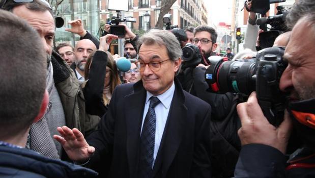 Artur Mas, a la salida del Tribunal Supremo