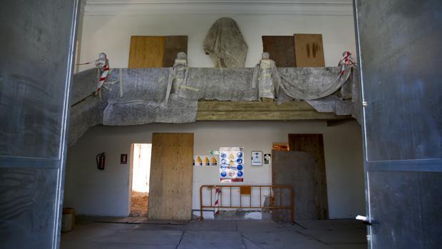 Obras en el interior del Palacio de El Capricho