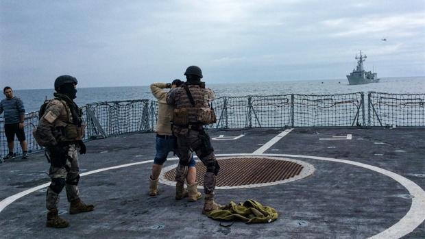 Un instante de las maniobras realizadas en el mar Negro