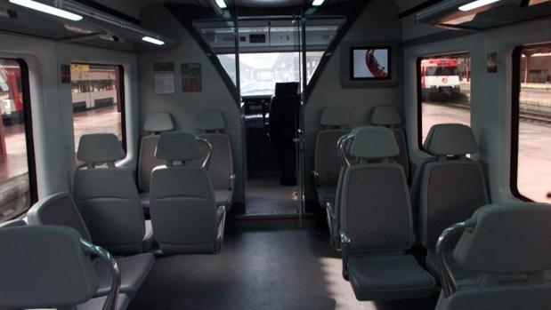 El interior de un tren de cercanías