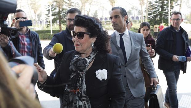 Imagen de archivo de Consuelo Císcar, en una citación a declarar en la Ciudad de la Justicia
