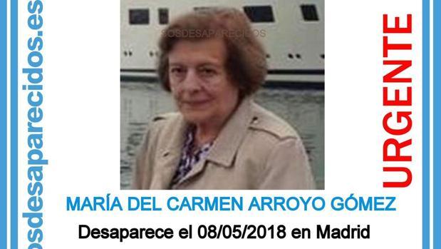 La mujer desaparecida en el distrito de Chamberí