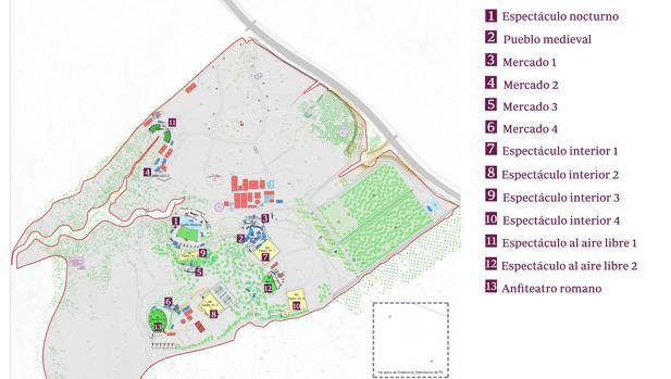 Plano del parque temático que se construirá en Toledo