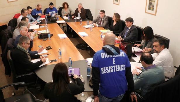 Negociación del comité de huelga de Justicia con la Xunta