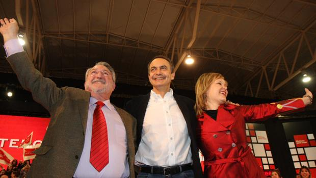 Soria, Zapatero y Pajín, en una imagen tomada en Alicante en 2008