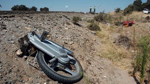 Imagen de archivo de un accidente de moto