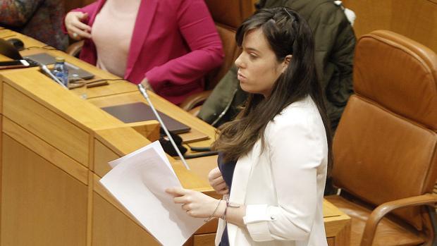 La diputada de En Marea, Paula Quinteiro, en el Parlamento