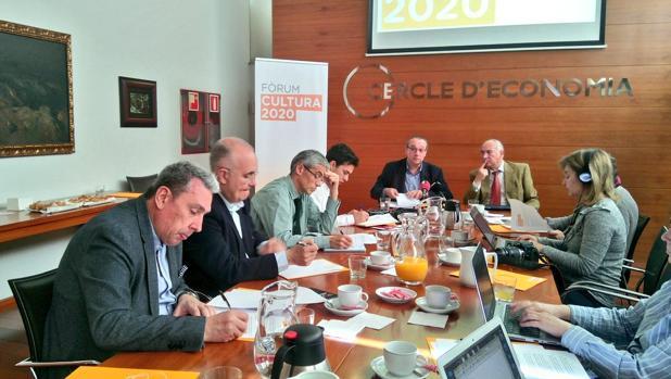 Presentación del ciclo de encuentros, ayer en Barcelona