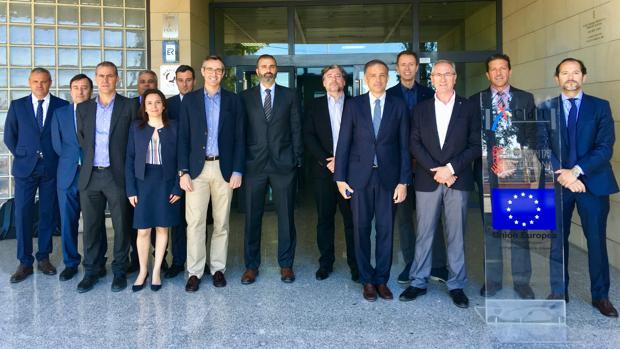 Miembros del comité de dirección de Hidraqua en el CDT de Alicante