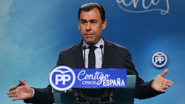 El coordinador general del PP, Fernando Martínez-Maillo, este martes