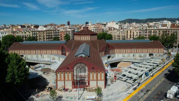 Vista del mercado de Sant Antoni