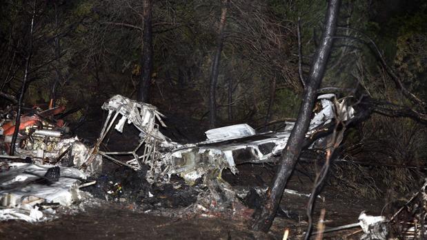 Imagen de la avioneta accidentada en Flix esta misma semana