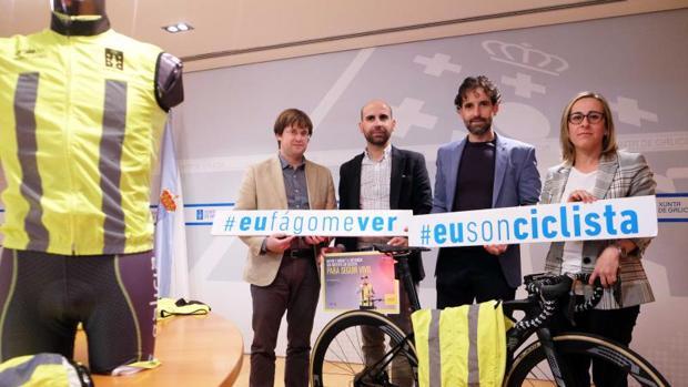 Presentación de la campaña de seguridad vial para los ciclistas