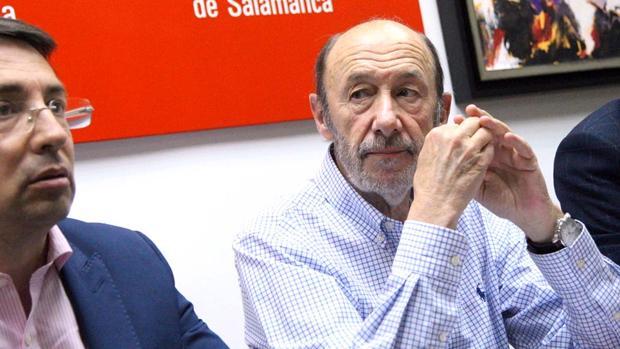 Alfredo Pérez Rubalcaba en Salamanca