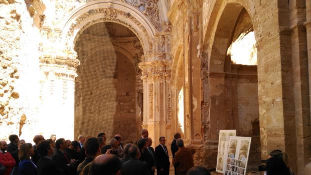 Instantánea del acto conmemorativo del 800 aniversario del Monasterio de Piedra