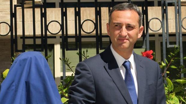 César Sánchez, este miércoles en un acto público en Alicante