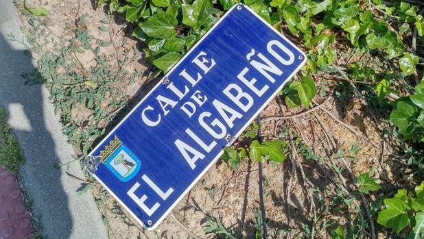 La placa dedica a El Algabeño, ya retirada