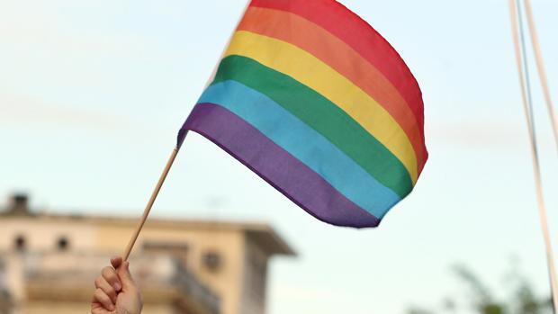 Bandera del colectivo LGTBI, contra el que el imputado dirigía sus amenazas a través de internet