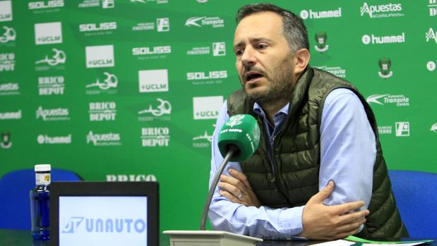 Jorge Berlanga, durante la rueda de prensa
