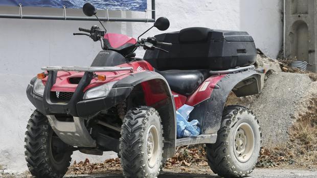 Imagen del quad que conducía Ángel Nieto cuando tuvo el accidente mortal en Ibiza