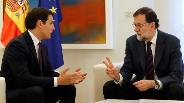Mariano Rajoy Albert Rivera, en el Palacio de La Moncloa