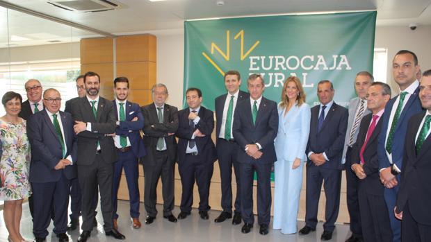 Imagen de la inauguración de la primera oficinal de la entidad en la ciudad de Valencia