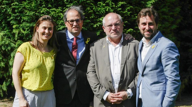 Los exconsejeros que demandarán a Llarena con el presidente catalán Quim Torra