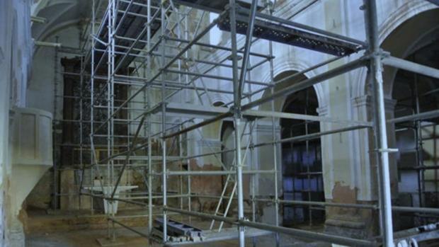 Aspecto interior de la iglesia de San Antonio Abad, en Huesca capital