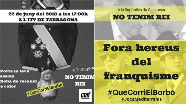 Los CDR y la ANC movilizan sus bases contra la presencia de Don Felipe