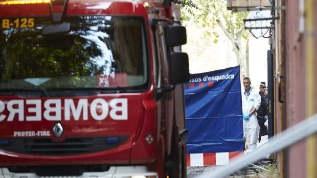 Un camión de los bomberos de Barcelona