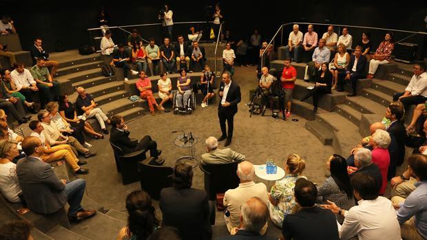 El presidente de la Diputación, César Sánchez, en la presentación de la Orquesta Sinfónica ADDA