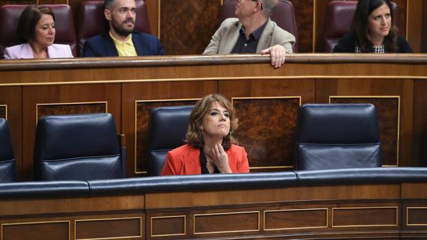 Dolores Delgado, en la sesión de control de hoy en el Congreso