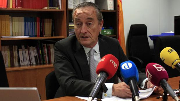 Luis Ibáñez, este jueves en la rueda de prensa