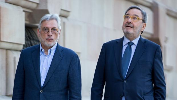 El expresidente de Cataluña Caixa, Narcís Serra, a su llegada este martes a la Audiencia de Barcelona
