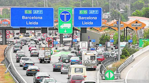 Retenciones en la AP-7, en Tarragona
