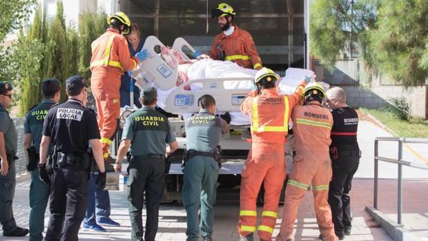 Traslado de Teófilo Rodríguez en un camión