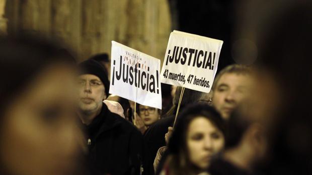 Imagen de archivo de una protesta de la Asociación de Víctimas del Metro de Valencia