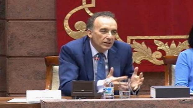 Manuel Marchena en una conferencia en el Parlamento de Canarias