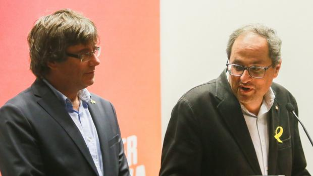 Carles Puigdemont y Quim Torra en Bélgica