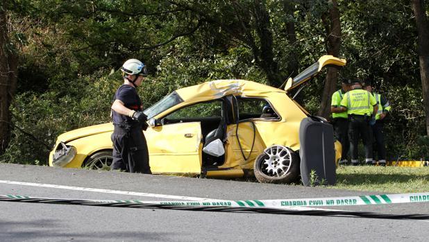 Imagen de un accidente mortal ocurrido en Valdoviño, con tres jóvenes fallecidos